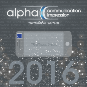 Alpha • carte voeux 2016