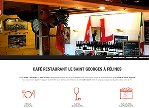Site Internet WordPress Café Restaurant Le Saint Georges